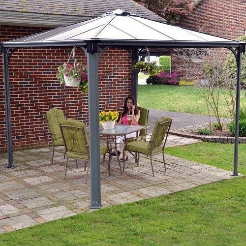 Outdoor aluminium gazebo 3 x 3 m large garden patio roof canopy outdoor aluminium gazebo 3 x 3 m large garden patio roof canopy awning shade freerunsca Images