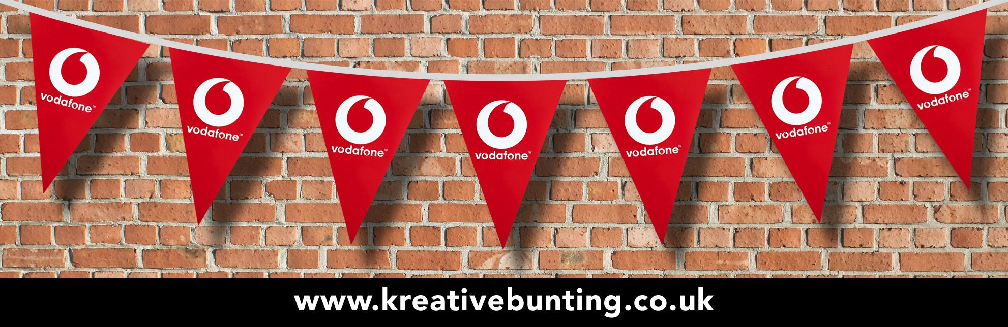 Vodafone Promotional Bunting With Images Bunting Co Uk Produce