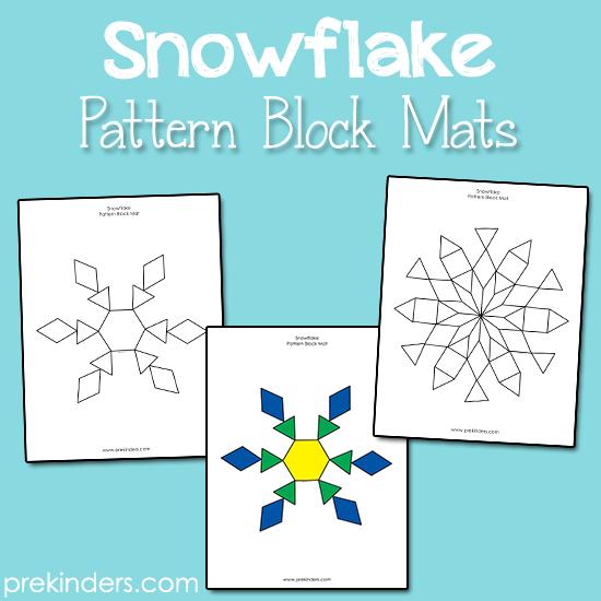 Snowflake Pattern Block Mats Winter Classroom Winter