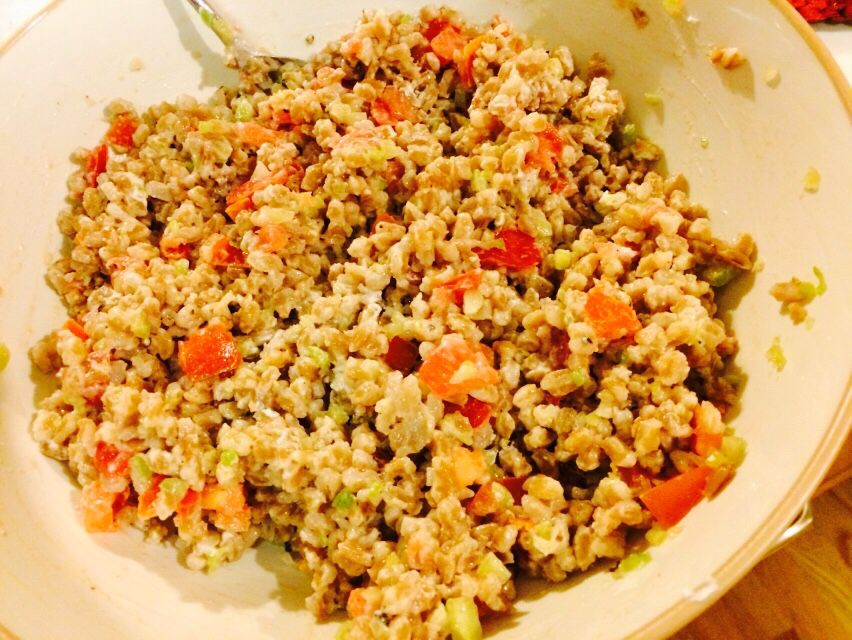 Farro salad. The best grain evah.