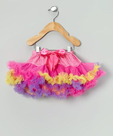 Look what I found on #zulily! Pink & Purple Carnival Pettiskirt - Toddler & Girls #zulilyfinds