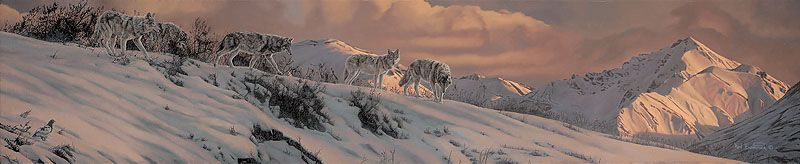 """The Long Twilight by Rod Frederick MASTERWORK CANVAS EDITION Image size: 48""""w x 10""""h."""