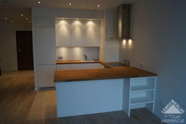 Kuchnia biała plus drewniany blat  Kitchen  Pinterest  Ales -> Kuchnia Drewniany Blat