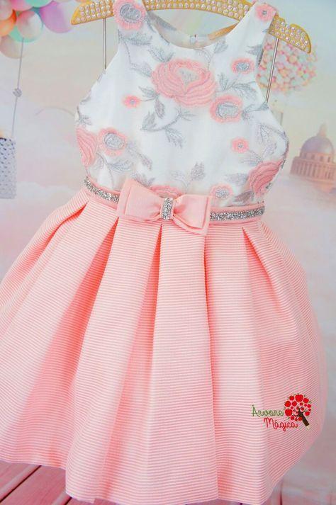 Vestido de Festa Petit Cherie Kids Bordado Prata | Diseño vestidos ...