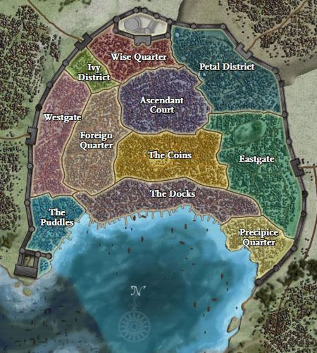 A city map for D&D or Pathfinder | cartography & RPG maps 6 ...