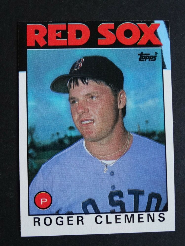 1986 Topps 661 Roger Clemens Boston Red Sox Blue Streak