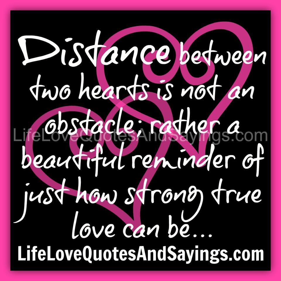 Distance between two hearts is not an obstacle; rather a