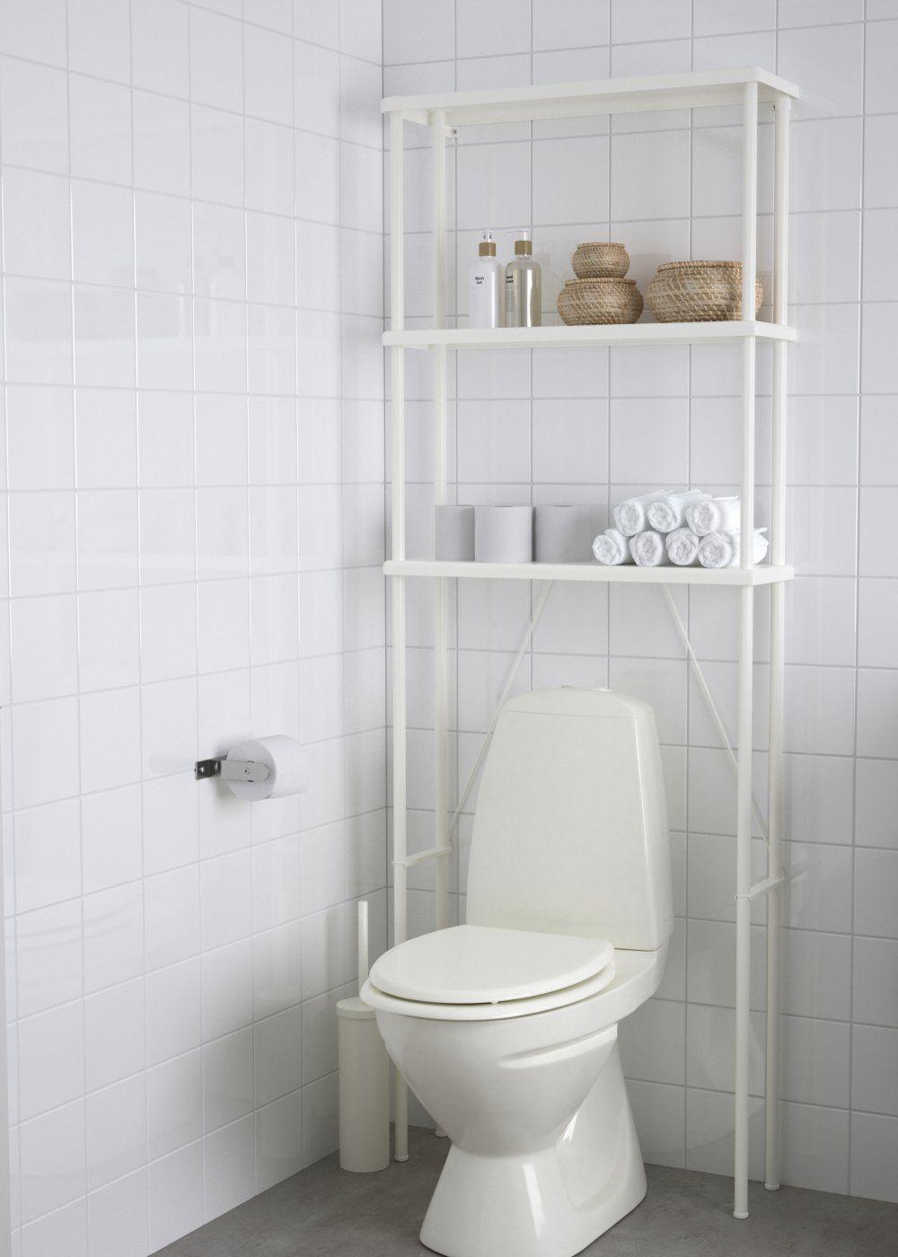 Des Wc A La Surface Optimisee Deco Toilettes Petit Meuble Pour Salle De Bains Rangement Ouvert Ikea