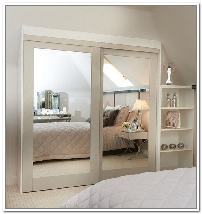 Stylishly space saving sliding mirror closet doors home for Sliding mirror doors