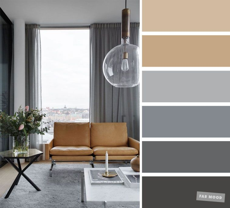 The best living room color schemes - Neutral and grey color palette images