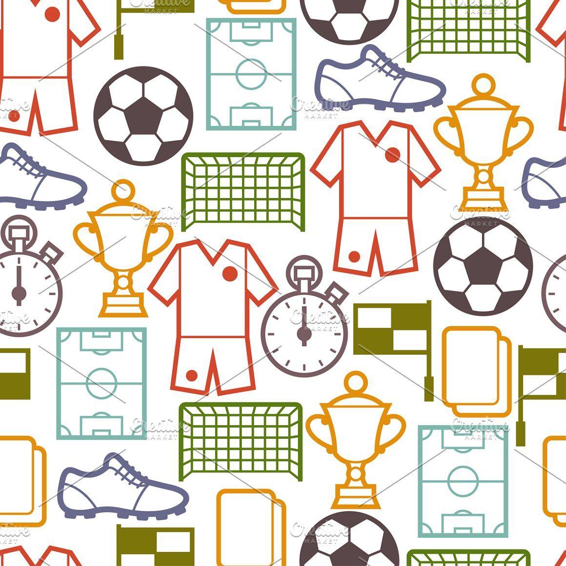 Soccer Seamless Patterns Football Soccer Ball Sport