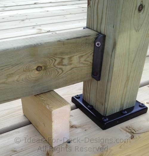 Installing Deck Railing Wood Posts