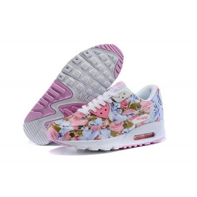new products 04b25 a5550 Nike Air Max 90 Chaussures Femmes Fleur rose   blanc