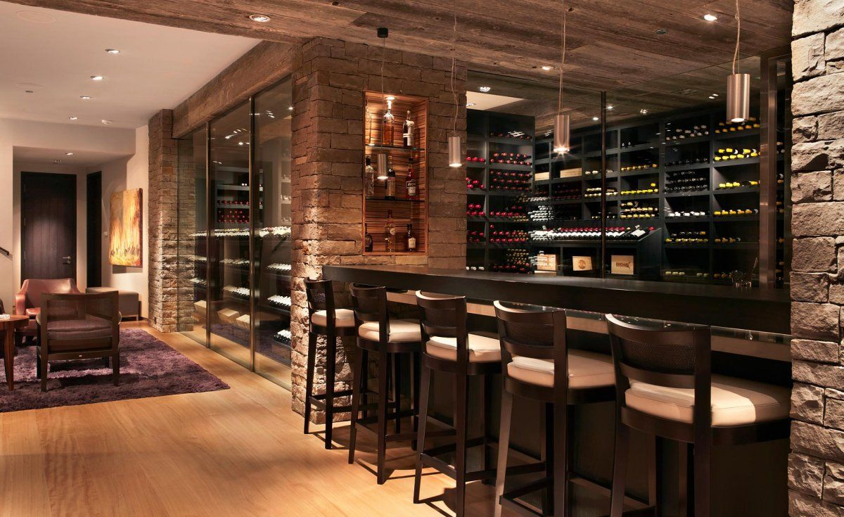 beautiful bar and wine cellar - Home Wine Bar Design Ideas