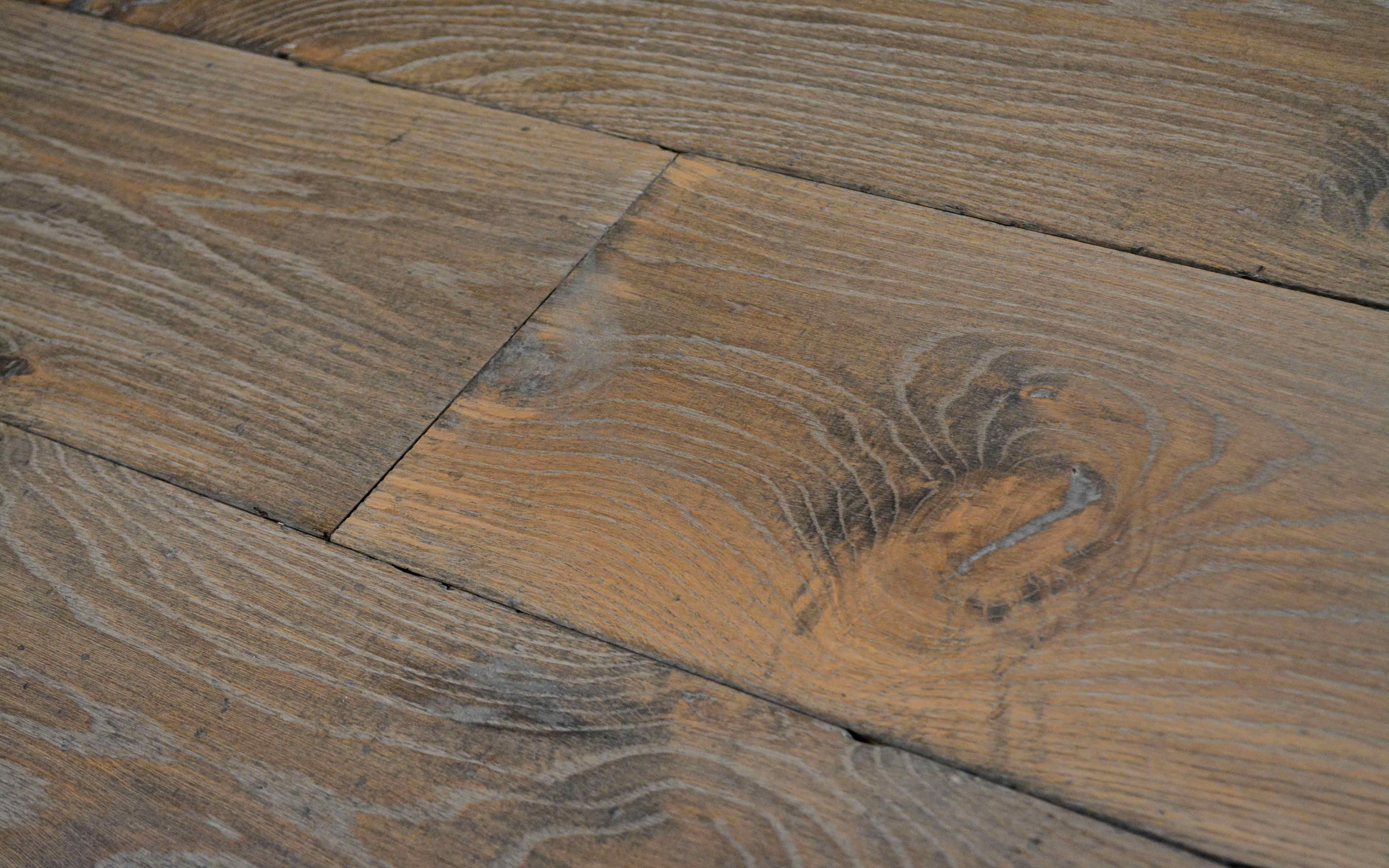 Zwaar geborstelde europees eiken vloer geborstelde houten