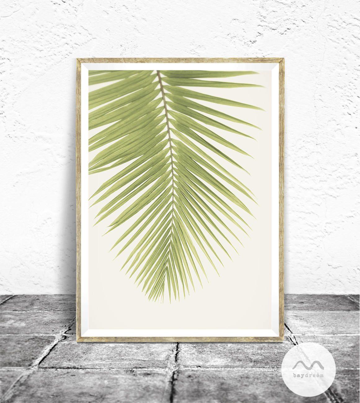 Palm Leaf Print - Baydreem. Tropical Wall Art Tropical Print Palm ...