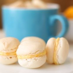 Orange french macarons by ModernTaste