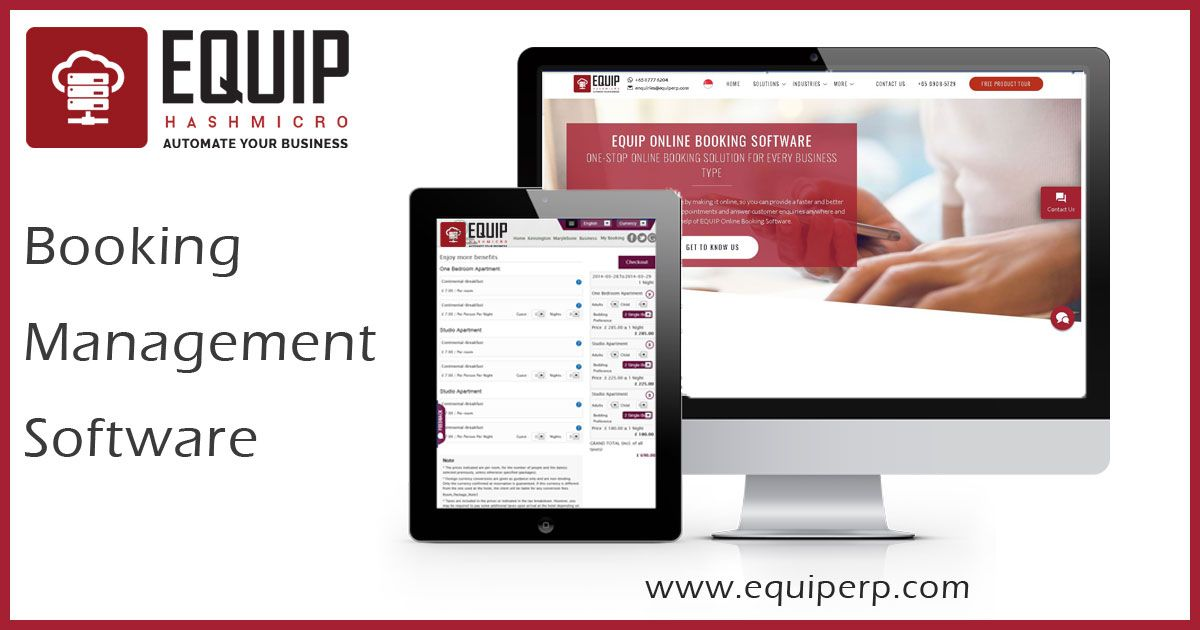 The Appointment Scheduling Software by EQUIPERP helps in