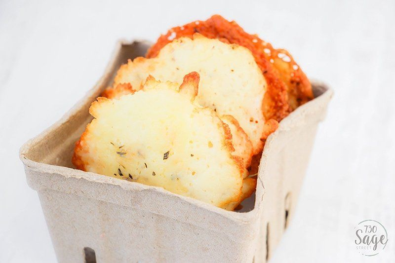 These low carb Italian cheese crisps are the perfect low carb or keto snack. They are easy to make