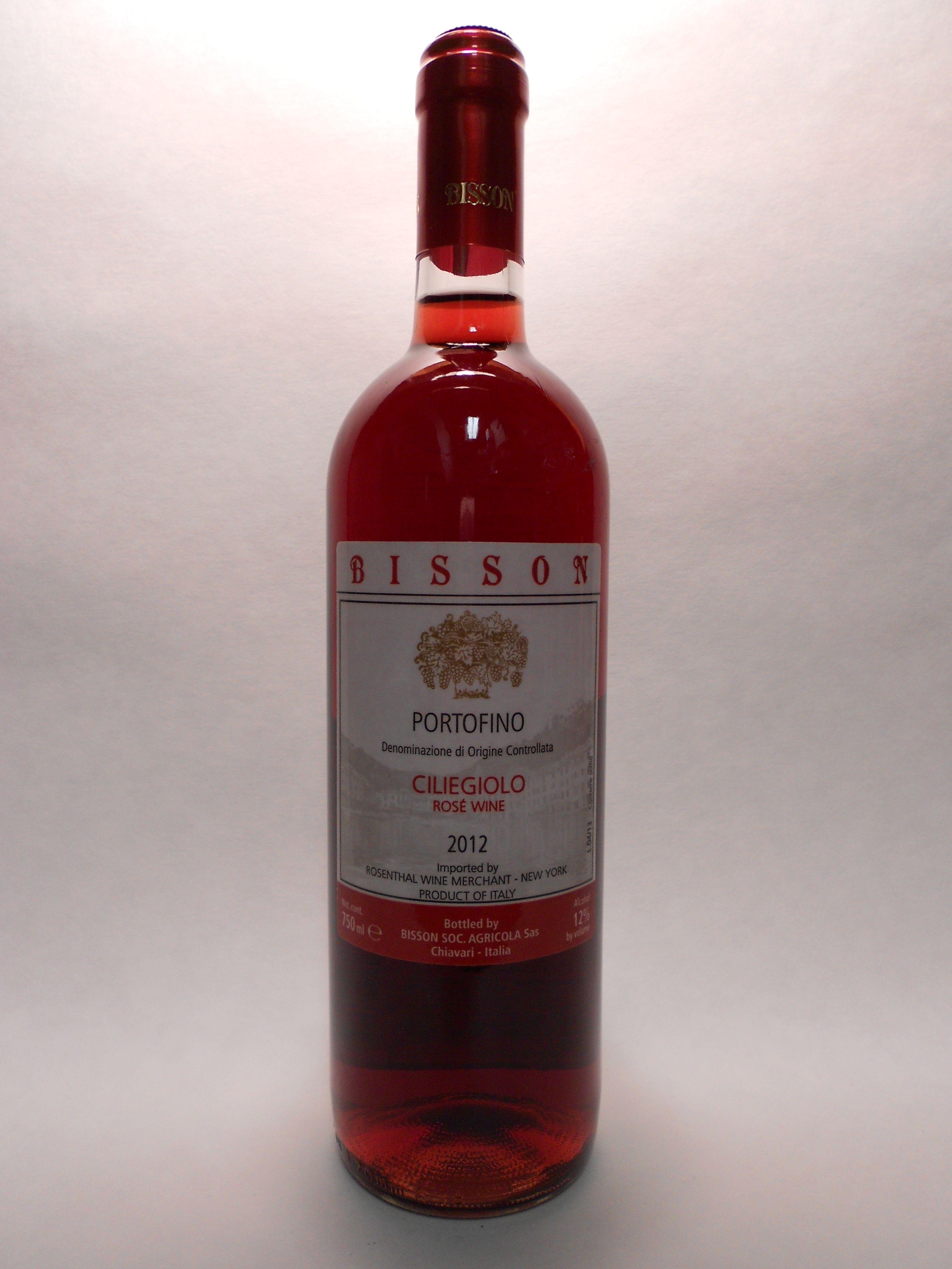 2012 Bisson Rosato Ciliegiolo Golfo Del Tigullio Sku 58914 Www Bassins Com Phone 202 338 1433 Wine Bottle Wine And Beer Rose Wine Bottle