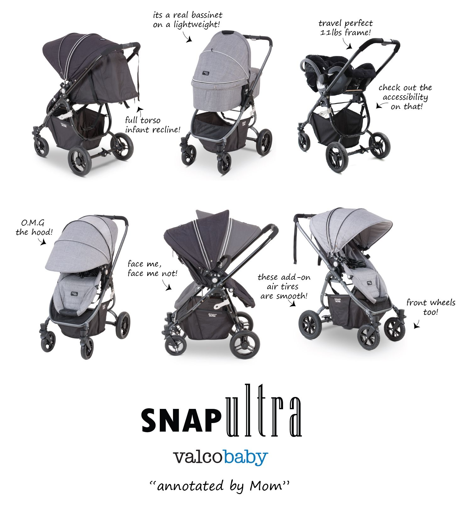 What Mom Wants In A Stroller Light Lush Featurfeul Snap