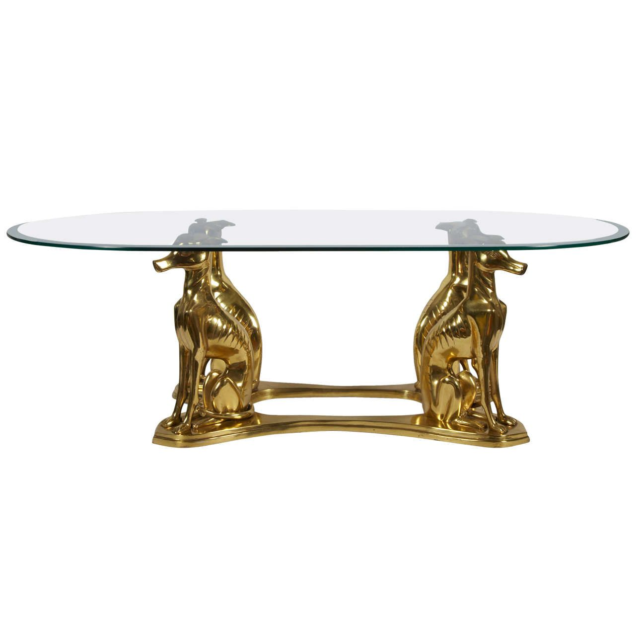 1970 S Bronze Dogs Cocktail Table In 2021 Glass Top Coffee Table Unusual Coffee Tables Table [ 1280 x 1281 Pixel ]