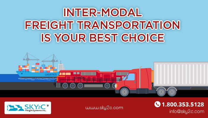 For your non-urgent cargo, Inter-modal freight