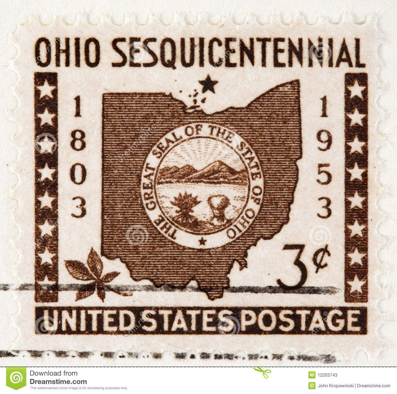 Circa Is Is A Vintage Postage Stamp Ohio