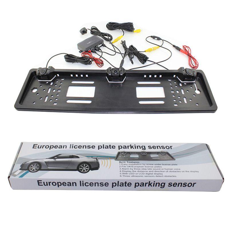 PZ600-L European License Plate Parking Sensor with HD Rear View ...