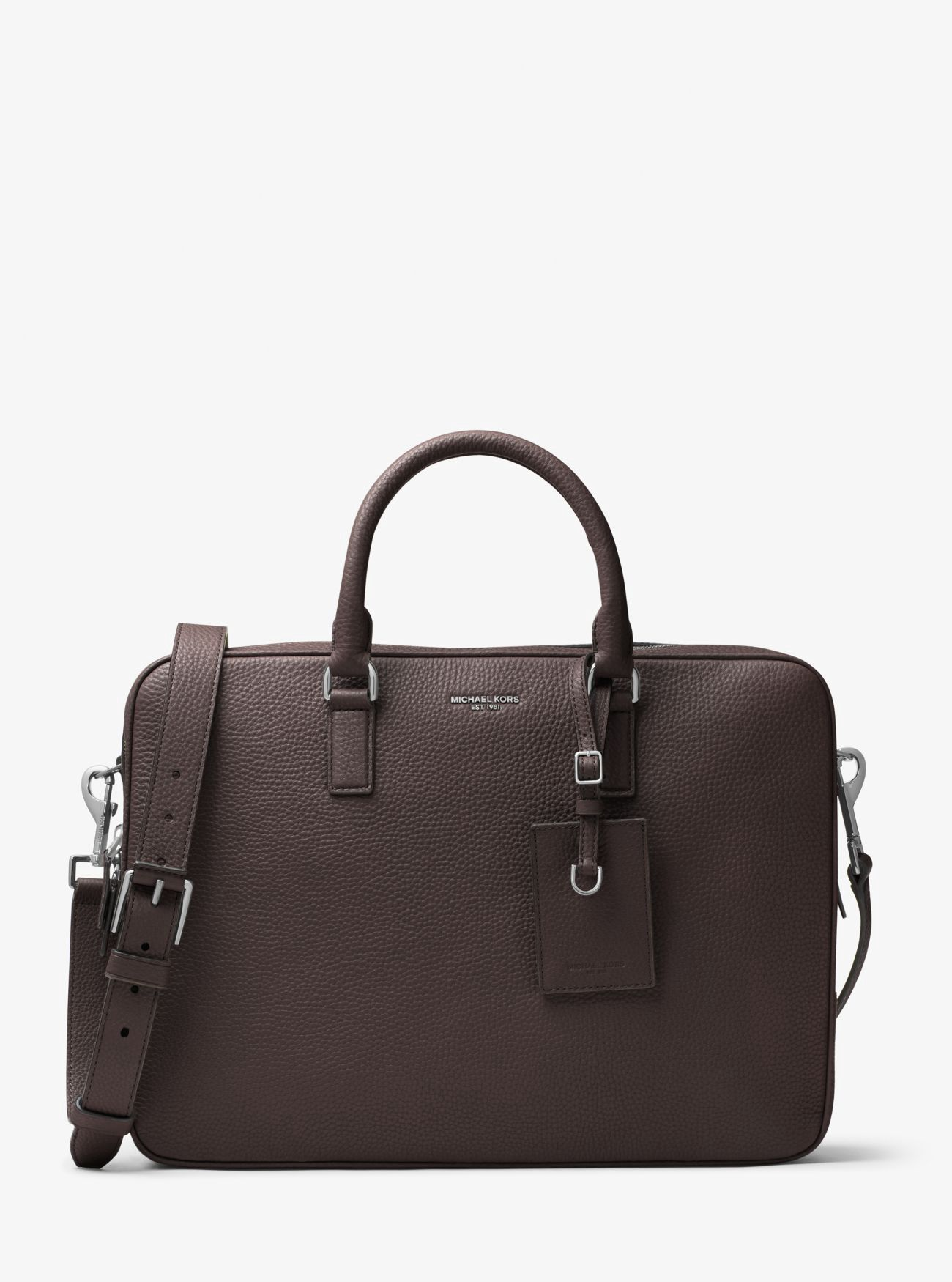 8182fdda267c MICHAEL KORS Bryant Large Leather Briefcase.  michaelkors  bags  polyester   leather  lining  accessories  shoulder bags  phone case  hand bags  cotton