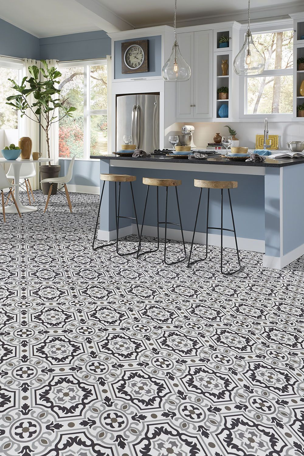 Luxury Vinyl Tile Sheet Floor Layout Design Inspiration For Kitchen Bathroom Foyer Dining Laundry Vinyl Flooring Kitchen Luxury Vinyl Tile Vinyl Sheet Flooring