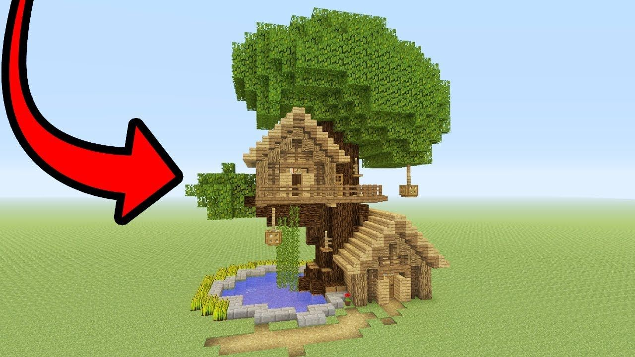 Minecraft Tutorial How To Make A Tree Base Easy Tree House