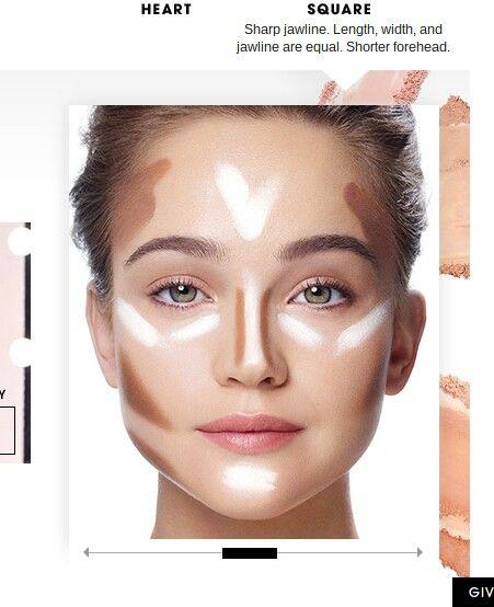 Square Face Contour With Images Contour Makeup Face