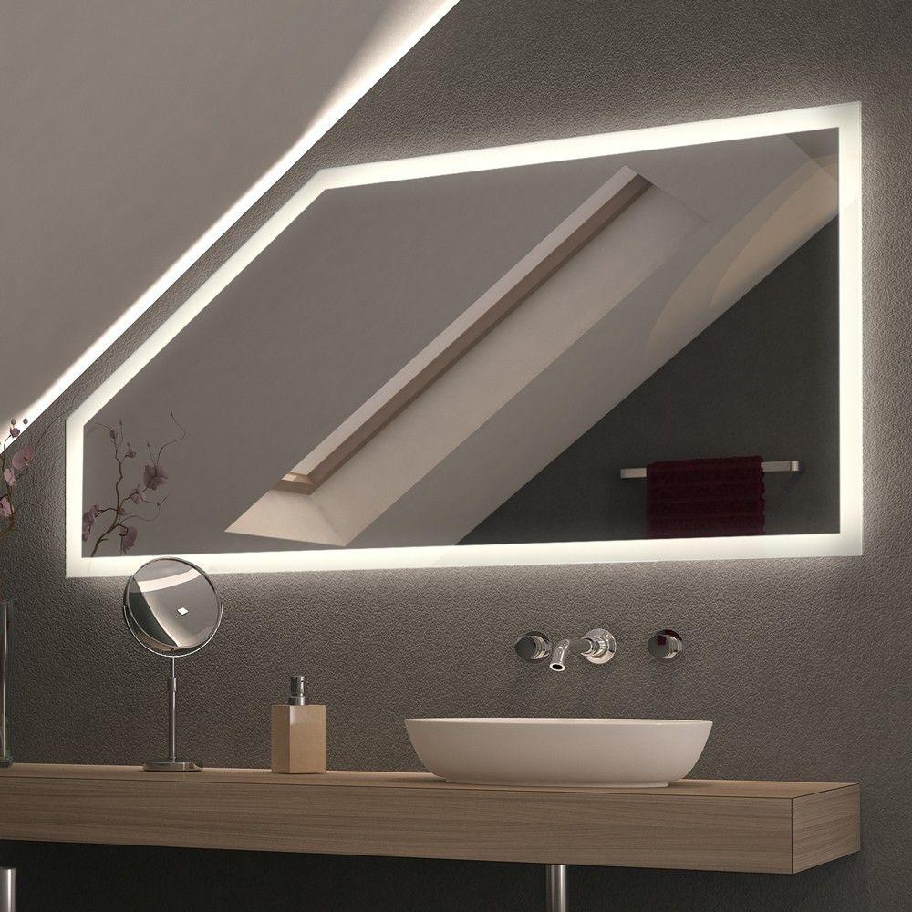 Spiegel Fur Dachschragen Mit Led Beleuchtung Framo Bild 3