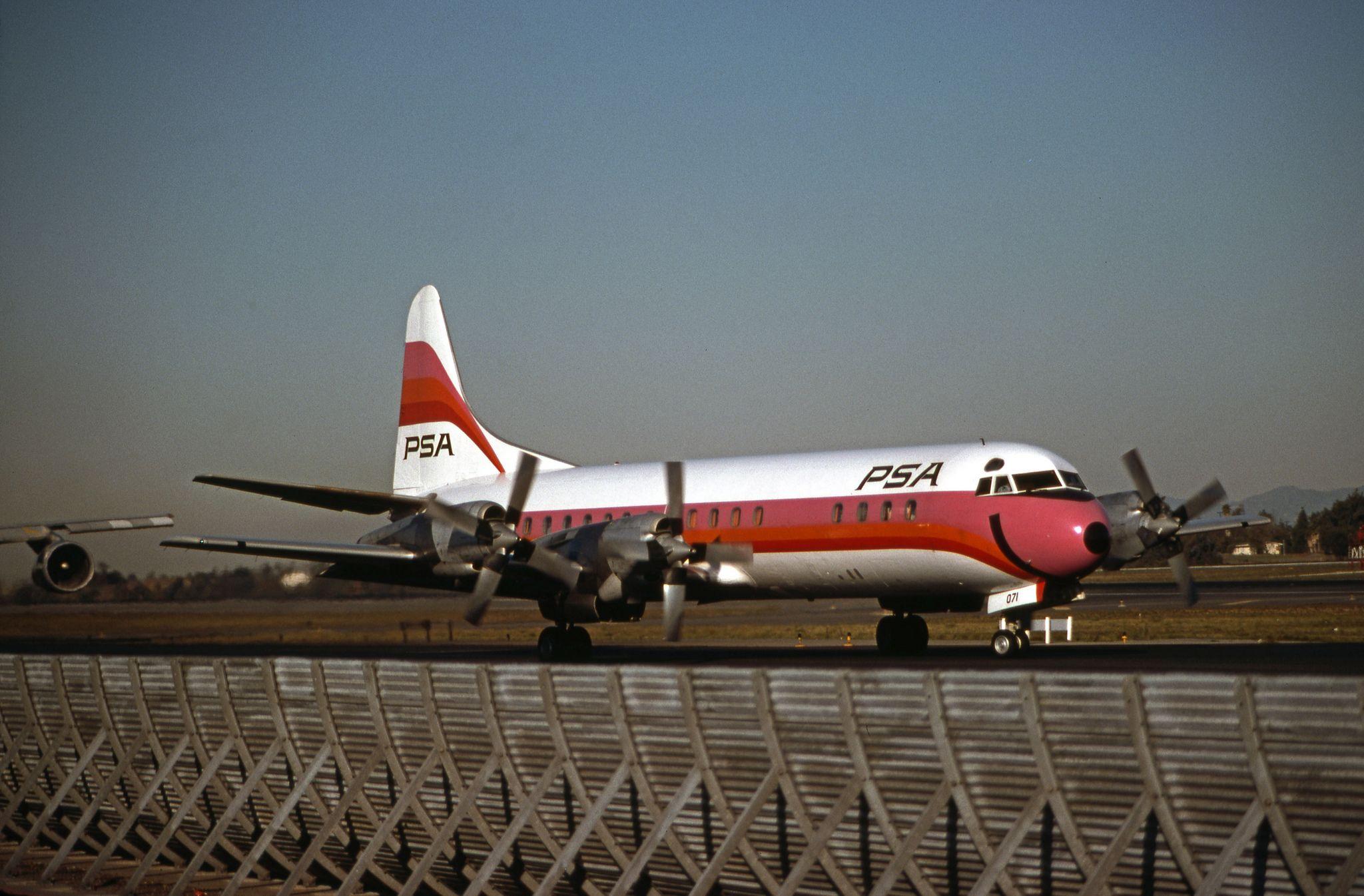PSA, Lockheed L188A Electra Aircraft, Southwest
