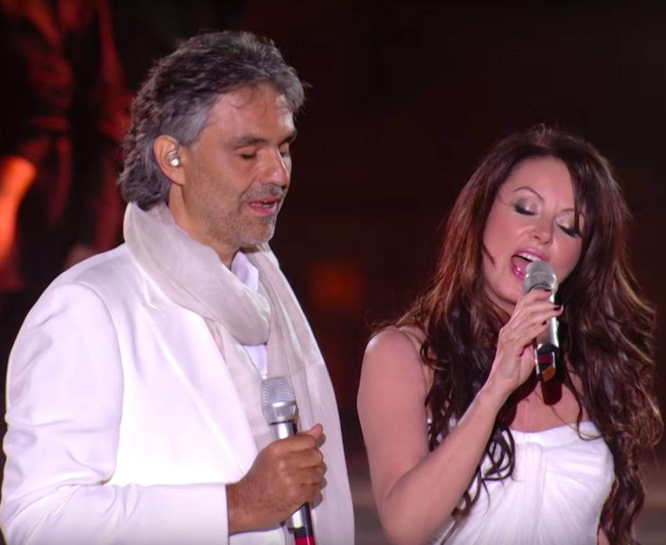 Andrea Bocelli and Sarah Brightman take duet to heavenly ...