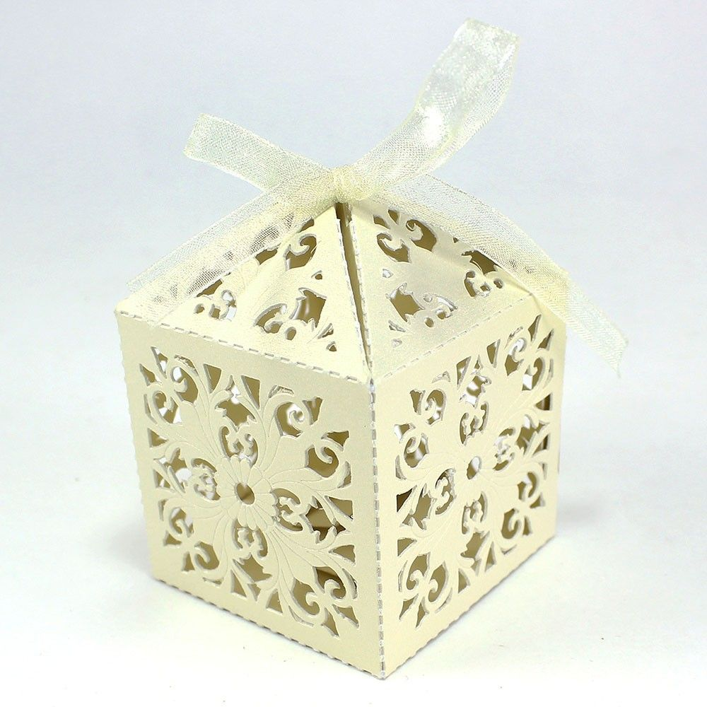 Floral Design Cutout Wedding Favor Box | Wedding Favors and Ideas ...