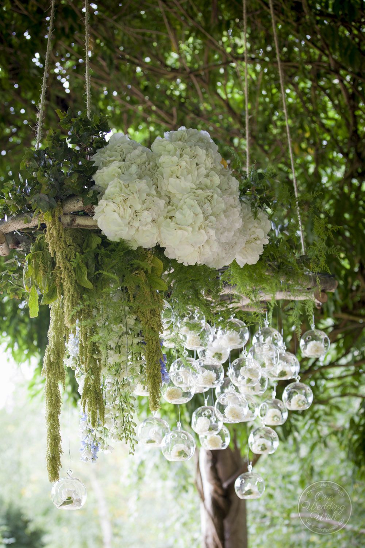 Ceremony floral installation | Rustic garden themed wedding | Alowyn ...