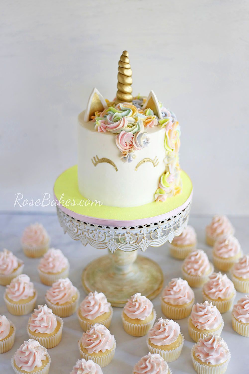 Fox Unicorn Cake with Wings