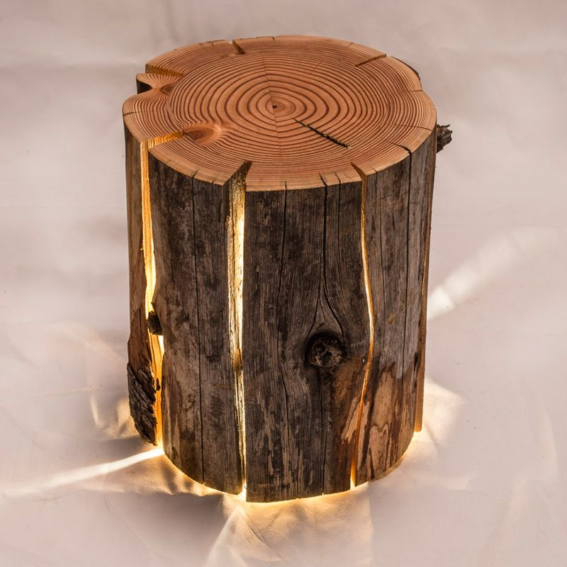 The Cracked Log Lamps Are Made From Salvaged Logs Which Would Otherwise  Have Been Burnt.