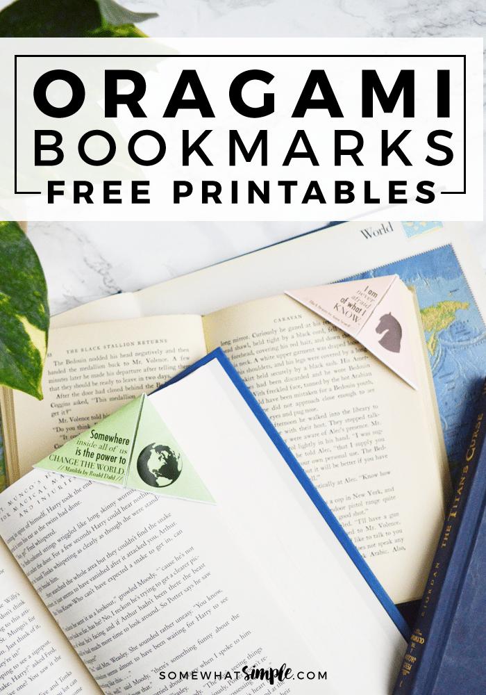 free printable origami bookmarks