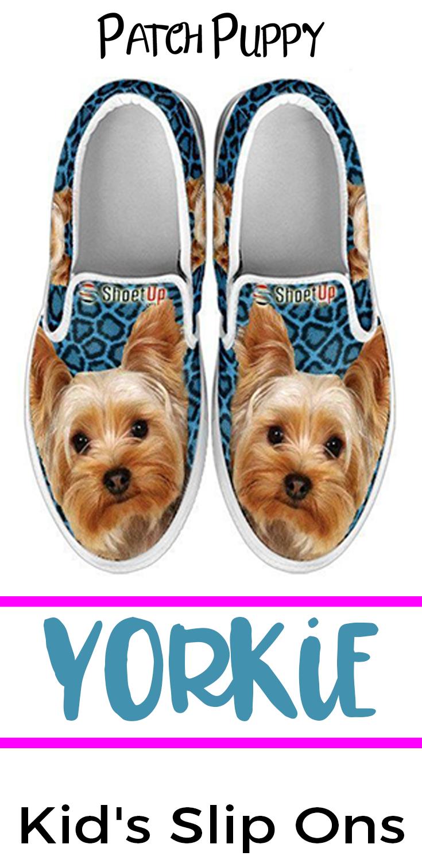 Yorkie Yorkshire Terrier Kids Slip On Shoes Yorkshireterrier