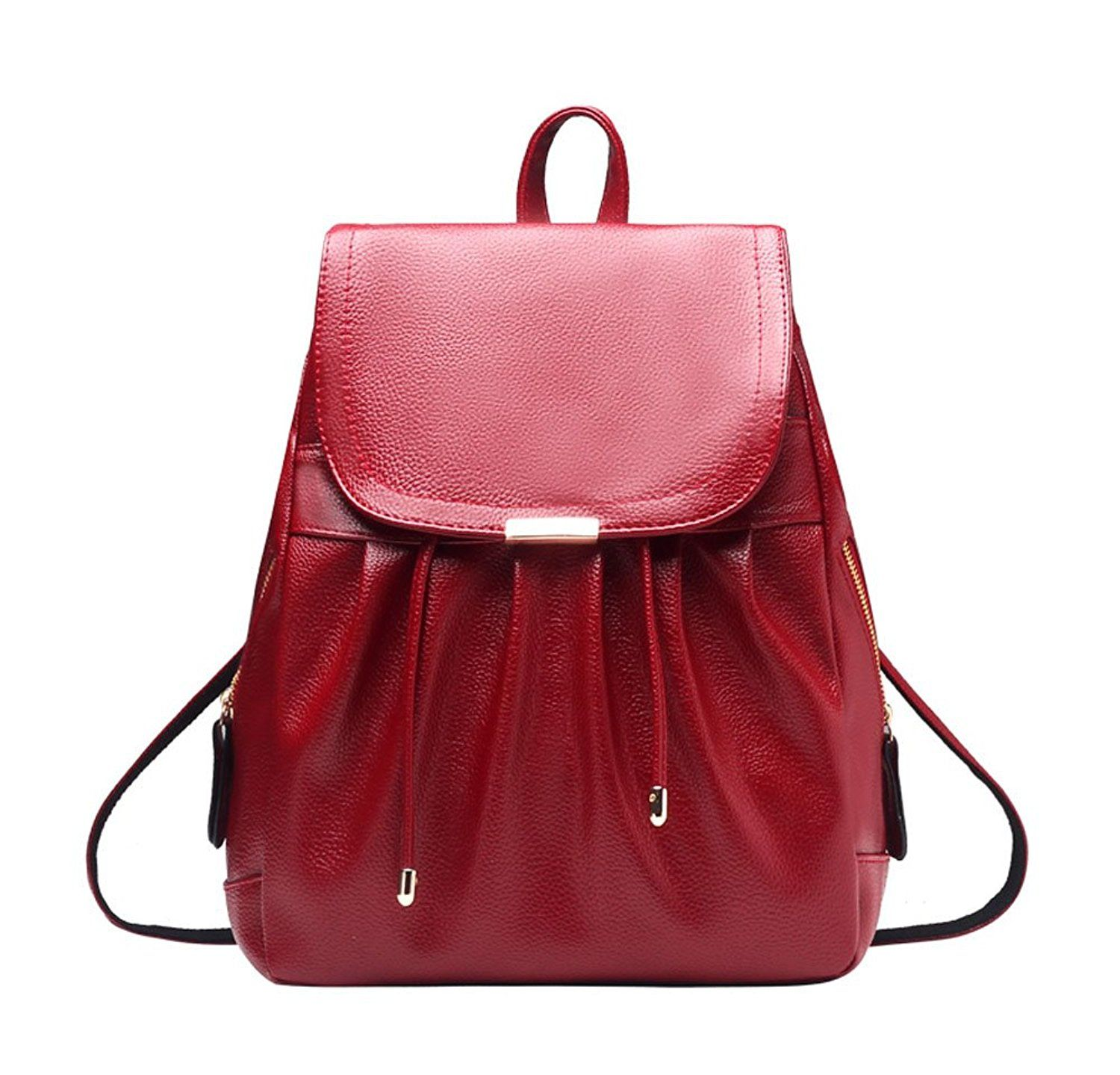 shelian outdoor cool leather backpacks purses for women college
