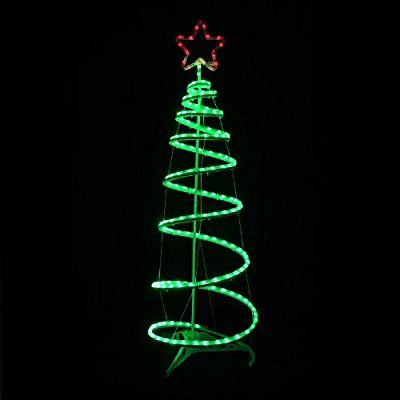 green spiral tree star led rope light 120cm christmas decoration indoor outdoor amazon - Amazon Uk Outdoor Christmas Decorations