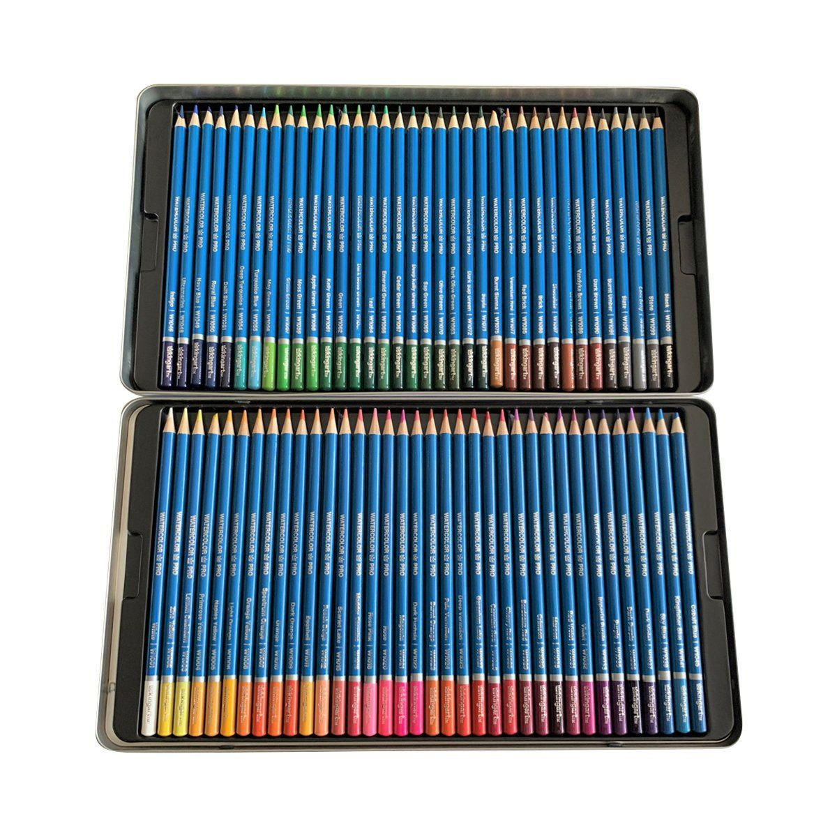 Kingart Pro Watercolor Pencil Collection Tin Case Set Of 72