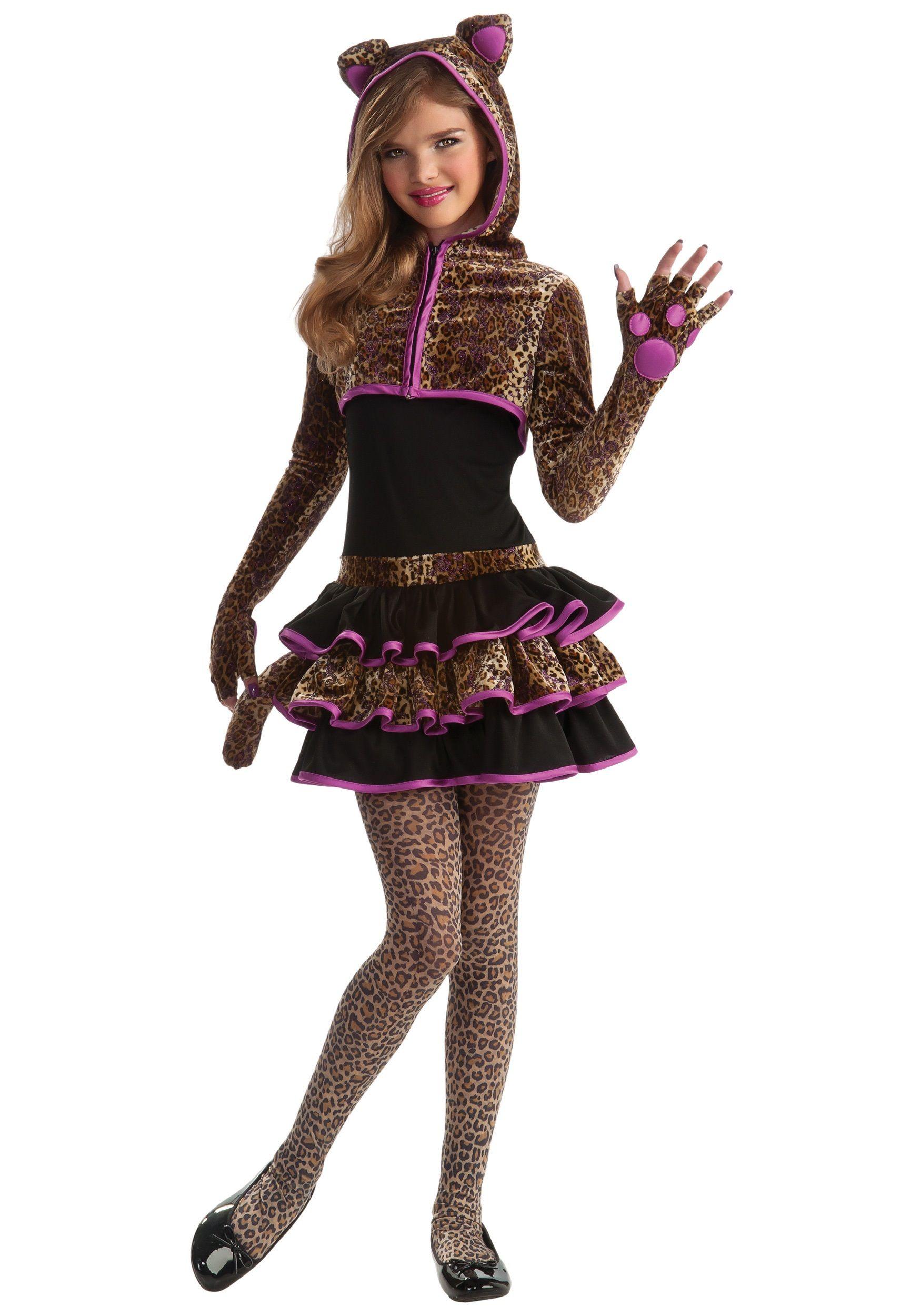 youth halloween costume ideas tween halloween costumes in this leopard tween girls costume - Teenage Girl Pirate Halloween Costumes