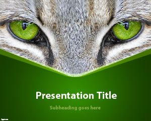 Cat eyes powerpoint template free powerpoint templates animals free cat ppt template is a simple but useful animal powerpoint template and slide design with green background and cat photo to share pictures of your pet toneelgroepblik Gallery