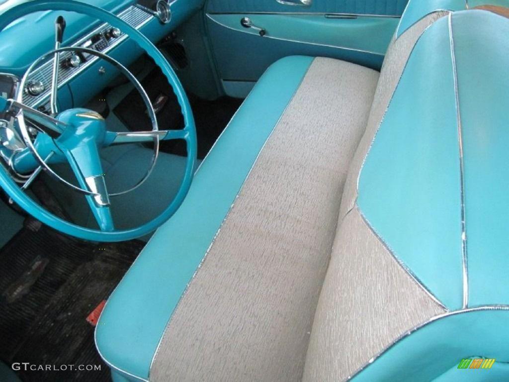 Fantastic Light Turquoise Interior 1956 Chevrolet Bel Air 2 Door Beutiful Home Inspiration Semekurdistantinfo