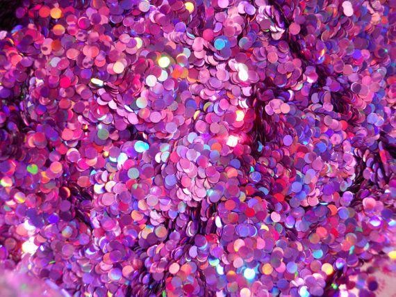 Solvent Resistant Glitter Holographic Lavender Dot Glitter