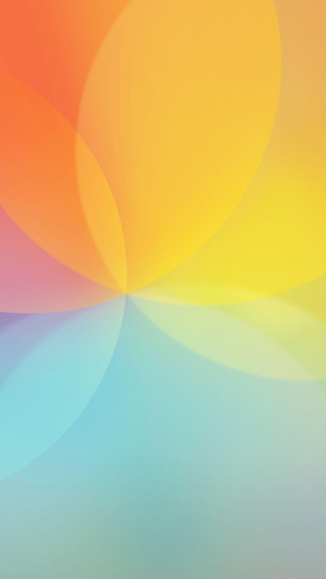 高級感ある淡い七色グラデーション ネオン花 ピンク 壁紙 Iphone